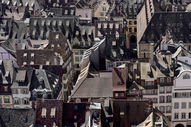 Roofs, Old Town, Strasbourg, France, Europe
