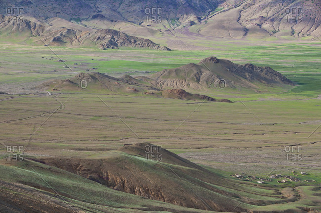Mountainous Himalayan landscape along the southern route into Western Tibet, Tibet, Asia