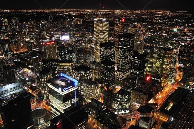May 21, 2020: City view from the top of the CN-Tower, Toronto, Ontario, Canada, North America