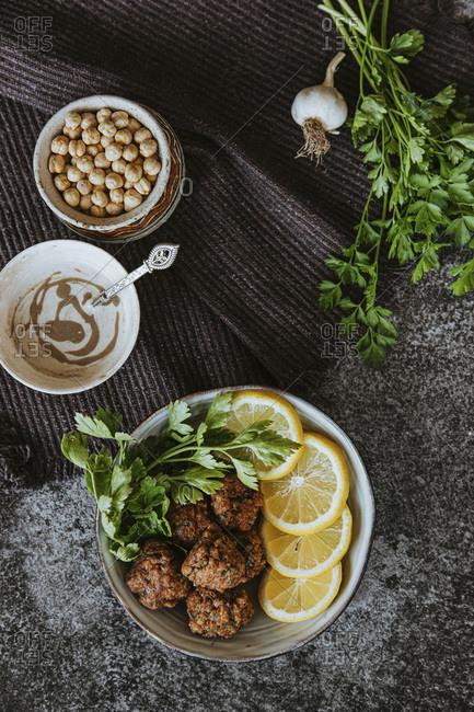 Homemade Falafel with Yogurt and  Tahini Sauce