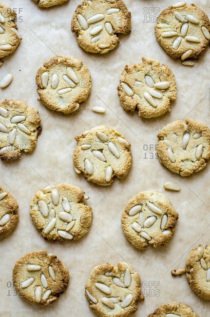 Vegan Pinoli Cookies looking tasty