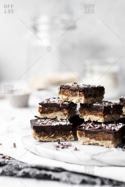 Date Chocolate And Coconut Bars