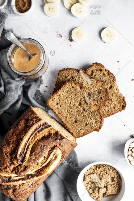 Peanut Butter Banana Bread fresh