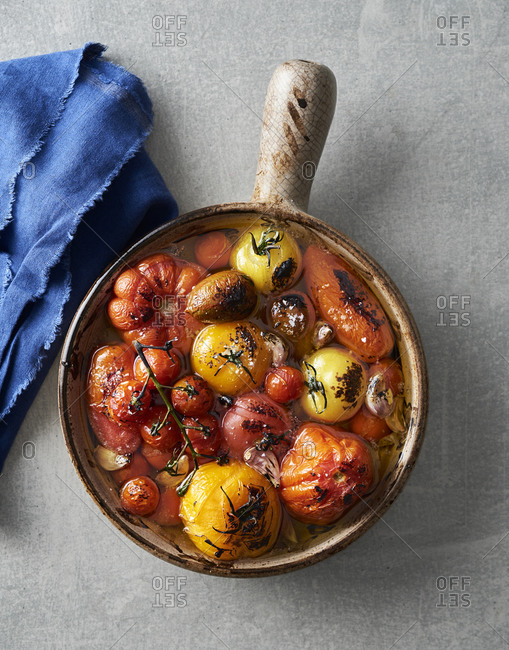 Roasted tomatoes and olive oil