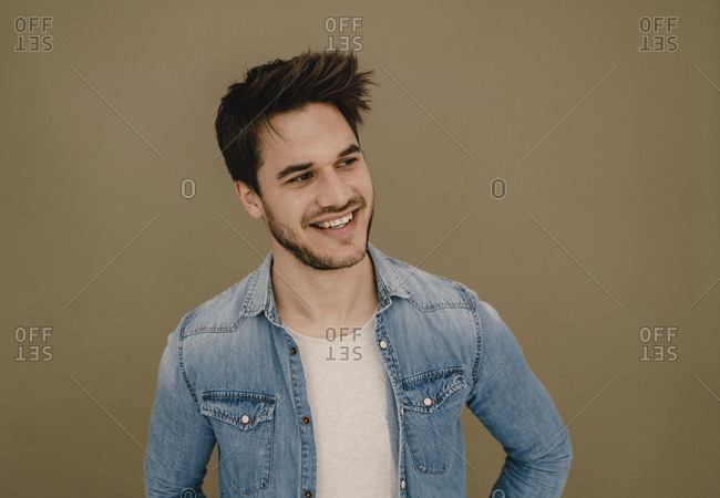 Portrait of a laughing young man