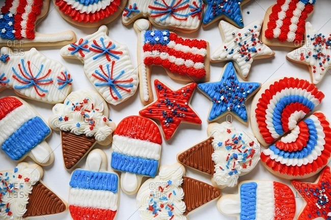 Holiday sugar cookies for 4th of July