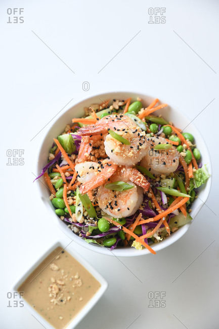 Shrimp dish with beans and veggies