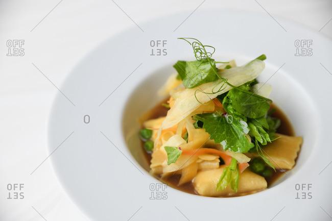 Small gourmet pasta dish - Offset