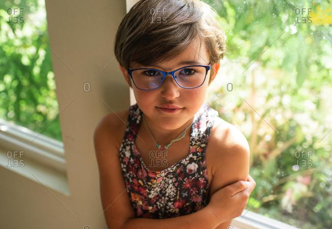 Short Haired Girl Stock Photos Offset
