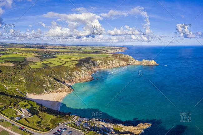 Porthcurno beach, Porthcurno near Lands End, Cornwall, England, United Kingdom, Europe