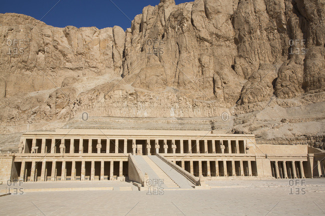 Overview, Hatshepsut Mortuary Temple (Deir el-Bahri), UNESCO World Heritage Site, Theban Necropolis, Luxor, Thebes, Egypt, North Africa, Africa
