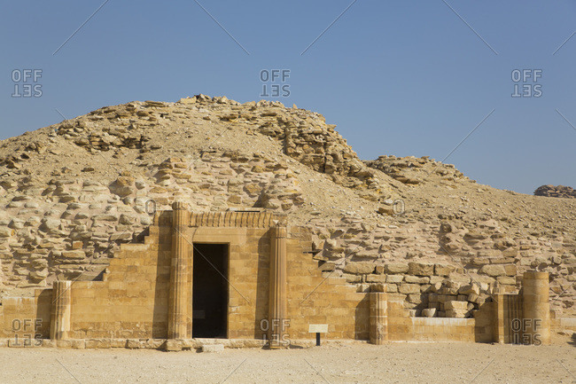 Entrance, Pavilion of the South, Step Pyramid Complex, UNESCO World Heritage Site, Saqqara, Egypt, North Africa, Africa