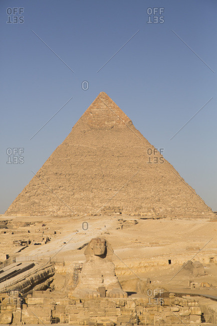 Pyramid of Chephren (Khafre), Great Pyramids of Giza, UNESCO World Heritage Site, Giza, Egypt, North Africa, Africa