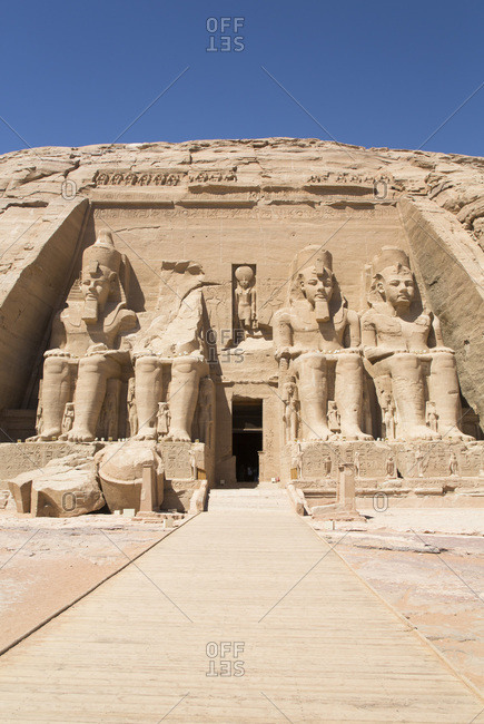 March 8, 2020: Ramses II Temple, UNESCO World Heritage Site, Abu Simbel, Nubia, Egypt, North Africa, Africa