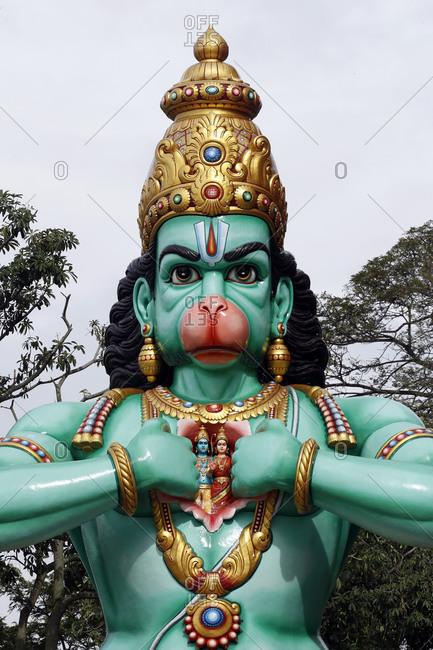 The Hindu God Hanuman (Monkey God) and Hero of the Ramayana, Hindu Temple and Shrine of Batu Caves, Kuala Lumpur, Malaysia, Southeast Asia, Asia
