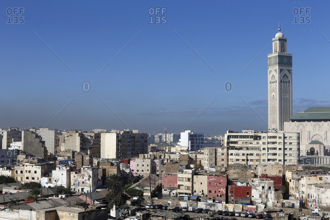October 17, 2019: View of Casablanca, Morocco, North Africa, Africa