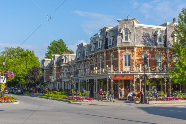 January 23, 2020: Corner of King Street and Queen Street, Prince of Wales Hotel, Niagara-on-the-Lake, Ontario, Canada, North America