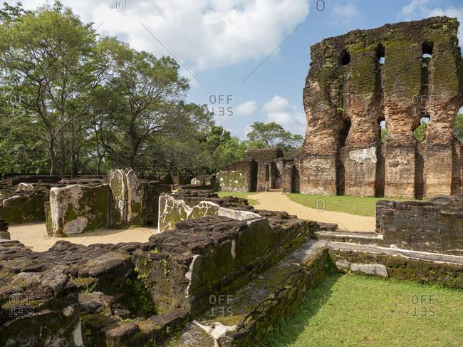 The seven storied Palace named Vijayotpaya, Polonnaruwa, UNESCO World Heritage Site, Sri Lanka, Asia