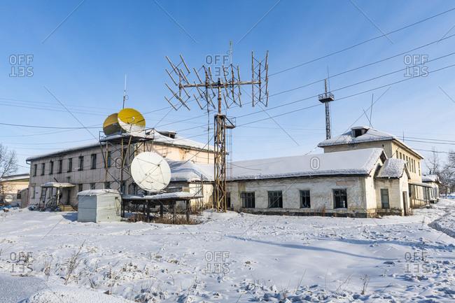 March 9, 2020: Artyk village, Road of Bones, Sakha Republic (Yakutia), Russia, Eurasia