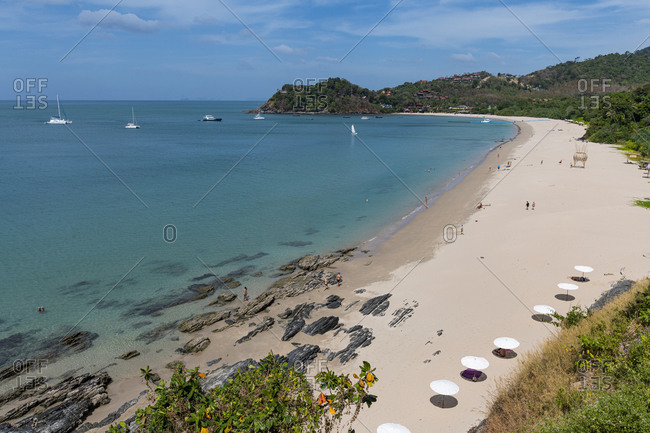 January 21, 2020: View over Bamboo Beach, Koh Lanta, Thailand, Southeast Asia, Asia