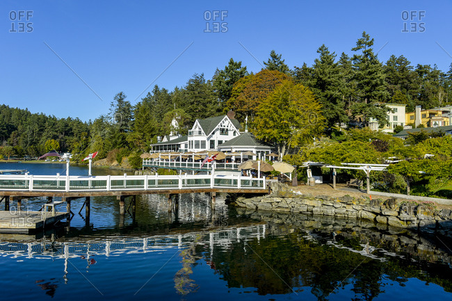 September 7, 2019: Old house, Roche harbor, San Juan islands, Washington State, United States of America, North America