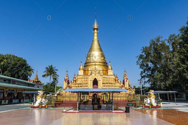 January 6, 2020: Su Taung Pyi pagoda, Myitkyina, Kachin state, Myanmar (Burma), Asia