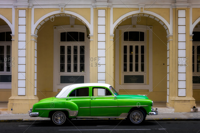March 1, 2020: Classic Old Car, Old Town, Havana, Cuba, West Indies, Caribbean, Central America