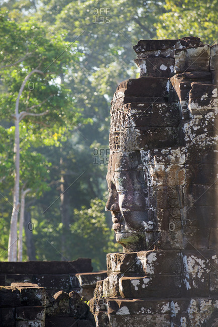 Ruins at the Bayon temple, part of Angkor archaeological complex, UNESCO World Heritage Site, Siem Reap, Cambodia, Indochina, Southeast Asia, Asia