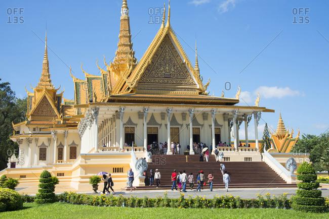 November 16, 2014: Royal Palace, Phnom Penh, Cambodia, Indochina, Southeast Asia, Asia