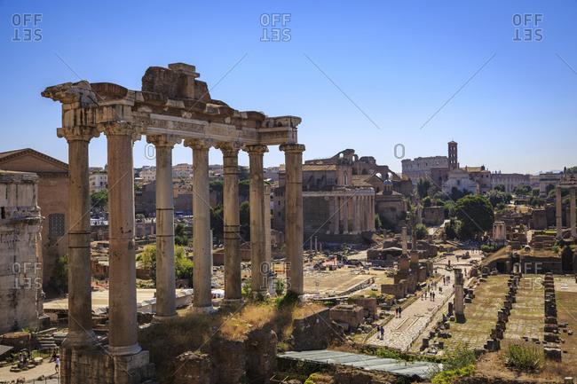 July 29,  2016: Roman Forum, Rome, Lazio, Italy