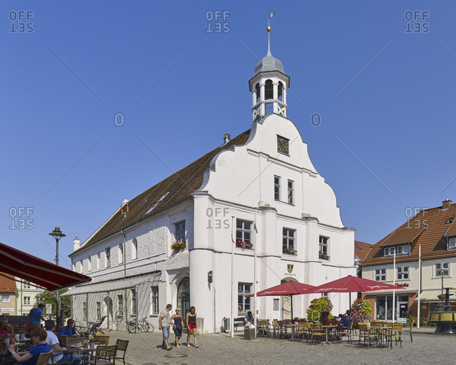 July 24,  2016: Old Town Hall in Wolgast, Mecklenburg-Vorpommern, Germany