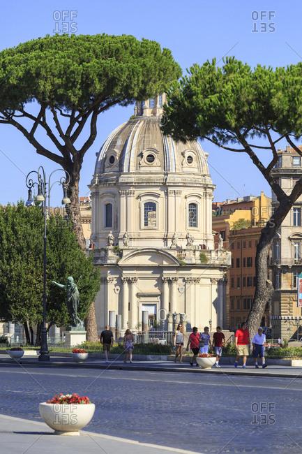 July 29,  2016: Chiesa del santissimo nome di Maria al Foro Traiano, Rettoria, Rome, Italy