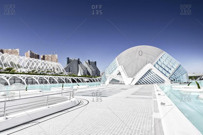 January 1,  1970: L'Hemisf�ric, 3D cinema, City of Arts and Sciences, Valencia, Spain