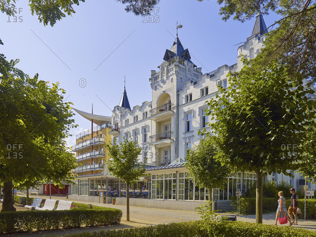 July 24,  2016: The Palace Hotel in Ostseebad Zinnowitz, Usedom, Mecklenburg-Vorpommern, Germany