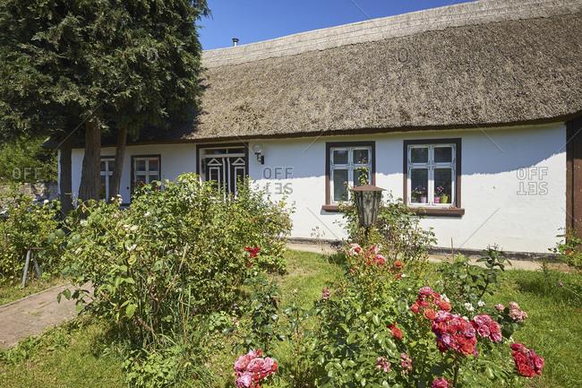 Thatched Cottage in Warthe, Lieper Winkel, Usedom Island, Mecklenburg-Vorpommern, Germany