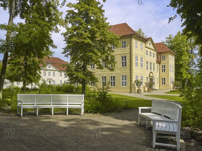 Mirow Castle on Castle Island in Mirow, Mecklenburg Western Pomerania, Germany