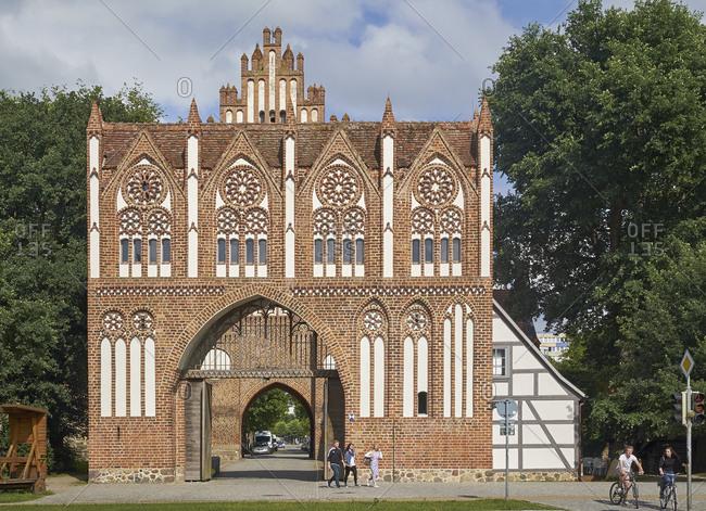 June 19,  2016: Treptow Gate, Neubrandenburg, Mecklenburg Western Pomerania, Germany