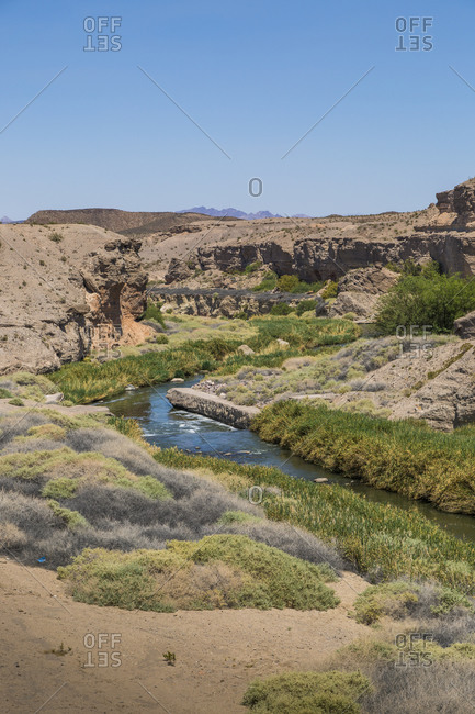 Winding Colorado River in Nevada, USA