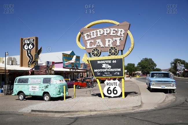 June 3,  2016: The Copper Cart, Seligman, Arizona, Historic Route 66, United States