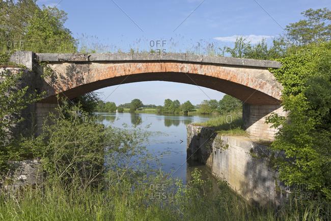 Bridge, Saint-Jean-de-Losne, Canal de Bourgogne, Burgundy, France