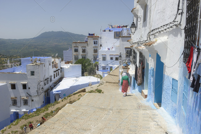 May 22,  2016: Streets and alleys of the Medina of Chefchaouen, Morocco
