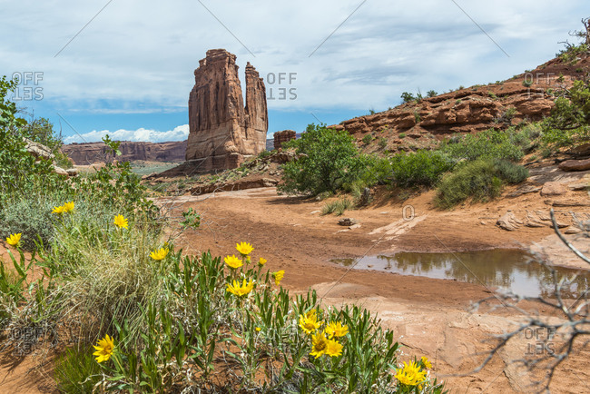 Courthouse Towers, Tower of Babel, The Organ, Arches National Park, Utah, USA