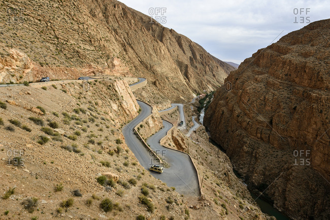 Beautiful shot of the Dades gorge, Morocco