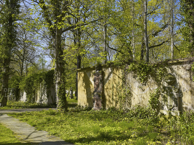 Alter Johannisfriedhof in Leipzig, Saxony, Germany