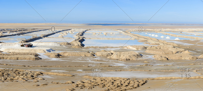 Salt pan in southern Morocco