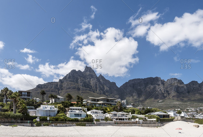Camps Bay Beach with Table Mountain, Cape Town, Western Cape, South Africa, Africa