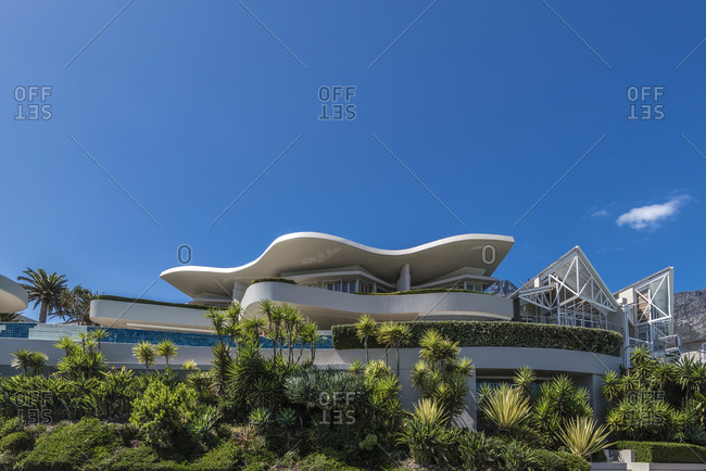 March 19,  2016: Modern architecture, Camps Bay, Cape Town, South Africa