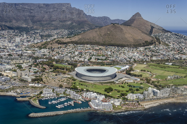 March 16,  2016: Aerial View, Cape Town, Western Cape, South Africa, Africa