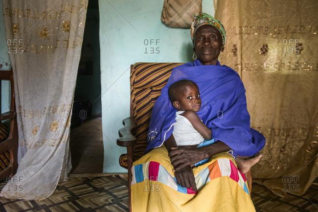March 12,  2016: Mandinka grandmother and grandchildren,  The Gambia