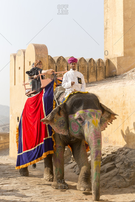 February 28,  2016: Fortress of Amber, Amber Fort, Jaipur, Rajasthan, India Fortress of Amber, Amber Fort, Jaipur, Rajasthan, India